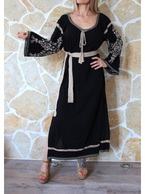 AGGEL DRESS BLACK GOLD